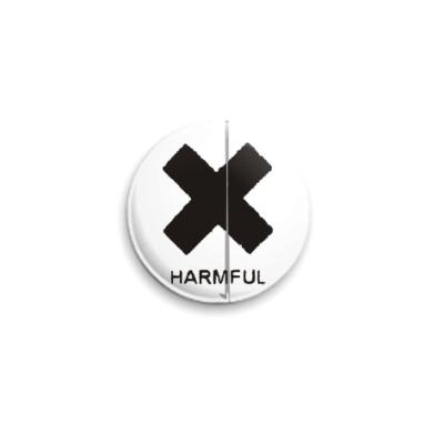 Значок 25мм  «Хармфул»