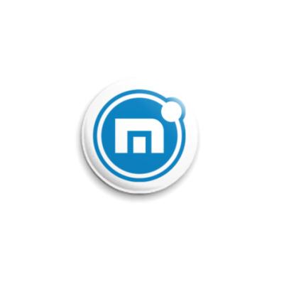 Значок 25мм Maxthon