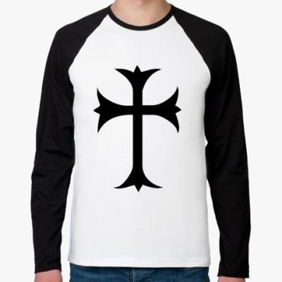 Футболка реглан с длинным рукавом Крест