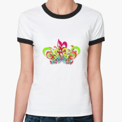 Женская футболка Ringer-T Summer