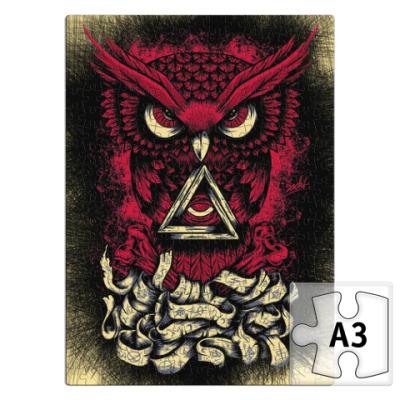 Пазл Сова (Owl) - всевидящее око
