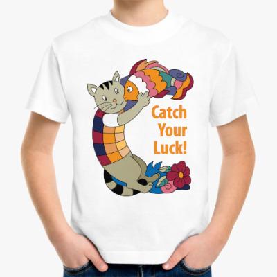 Детская футболка Кошка на удачу