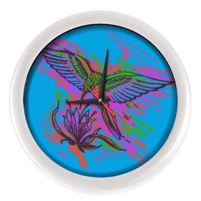 Настенные часы Колибри. Яркий рисунок