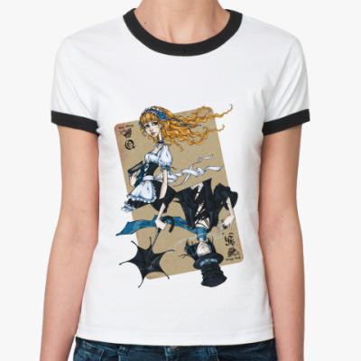 Женская футболка Ringer-T  'Love Story'