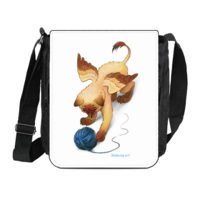 Сумка на плечо (мини-планшет) Котенок гриффона