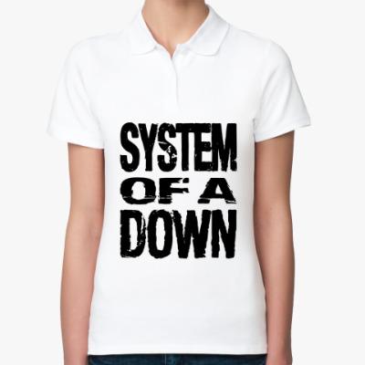 Женская рубашка поло  System of a down