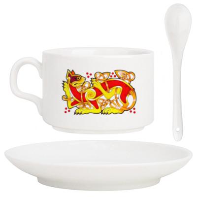 Кофейный набор Кельтский кот