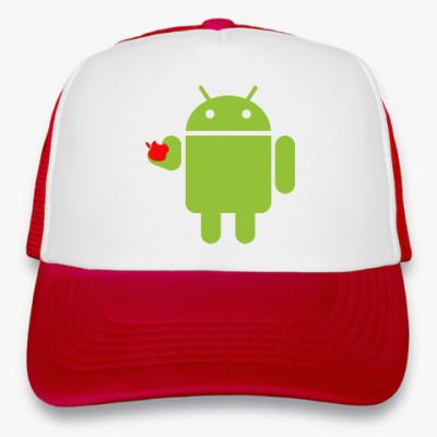 Кепка-тракер Андроид с яблоком