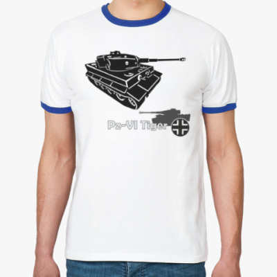 Футболка Ringer-T Танк Pz-VI Tiger