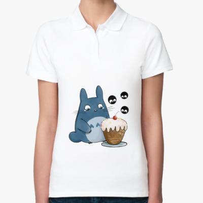 Женская рубашка поло Тоторо и кексик