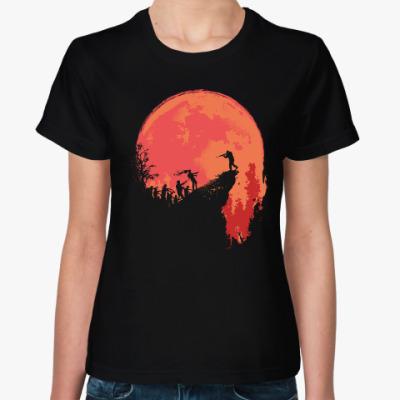 Женская футболка Кровавая луна