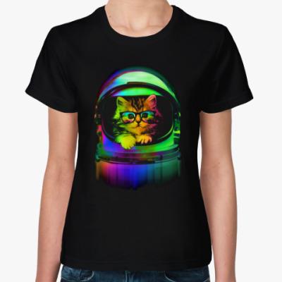 Женская футболка Абстрактный Котёнок