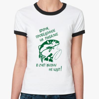 Женская футболка Ringer-T Рыбалка