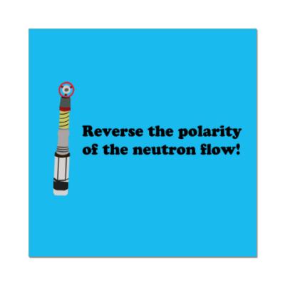 Наклейка (стикер) Reverse the polarity