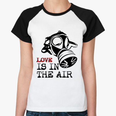 Женская футболка реглан Love is in the air