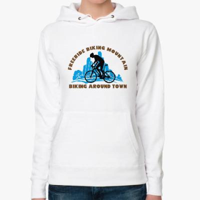 Женская толстовка худи biking around town