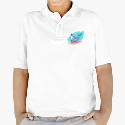 Детская рубашка поло Дельфин - песик