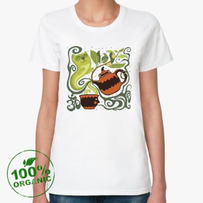Женская футболка из органик-хлопка Веселый Коточай