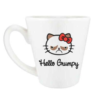 Чашка Латте Hello Grumpy Cat
