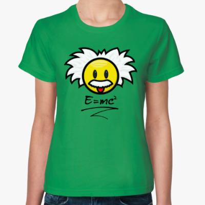 Женская футболка Эйнштейн