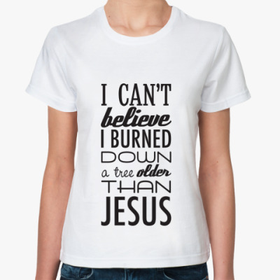 Классическая футболка 'Jesus'