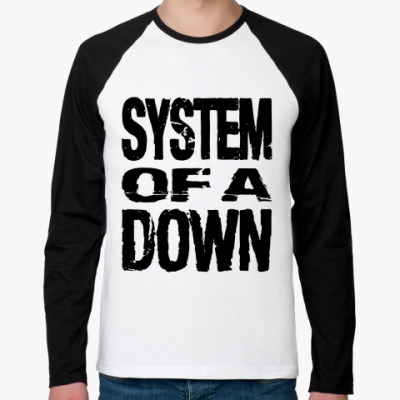 Футболка реглан с длинным рукавом  System of a down