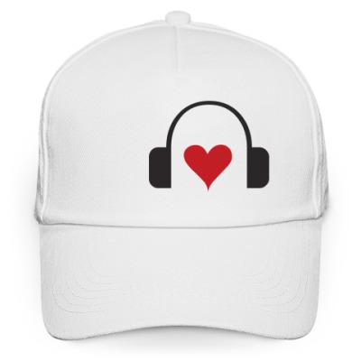 Кепка бейсболка Любовь к музыке