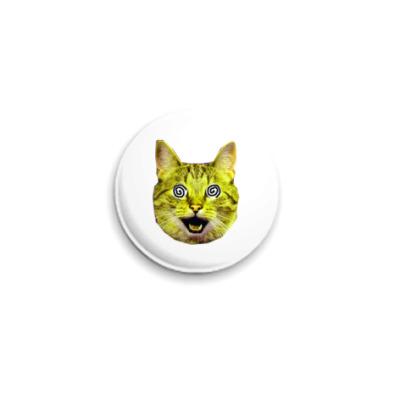 Значок 25мм  «Yellow cat»