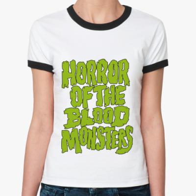 Женская футболка Ringer-T   Horror