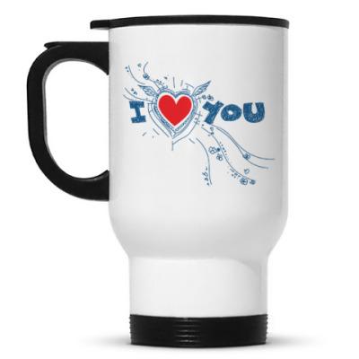 Кружка-термос I LOVE YOU