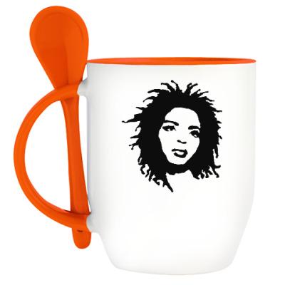 Кружка с ложкой Lauryn Hill