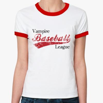 Женская футболка Ringer-T Vampire league