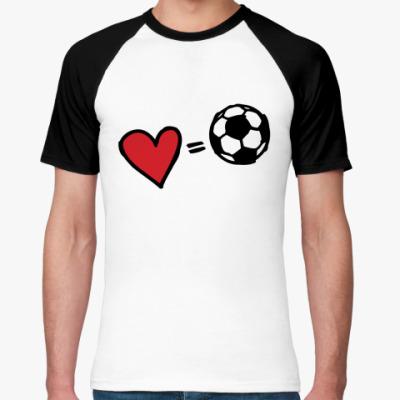 Футболка реглан Love equals football