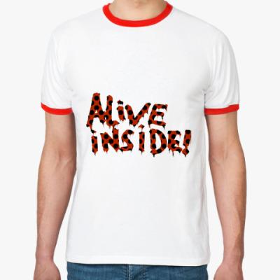 Футболка Ringer-T Alive inside