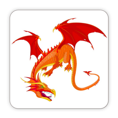 Костер (подставка под кружку) Костер Дракон