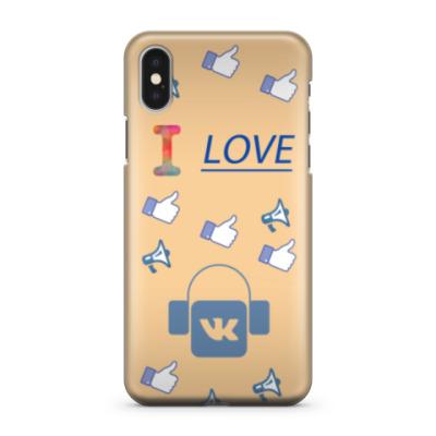 Чехол для iPhone X I love vk