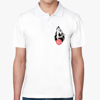 Рубашка поло Символ Валькирии. Волк