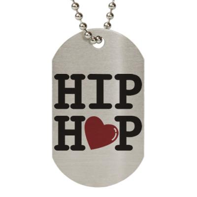 Жетон dog-tag Люблю хип-хоп