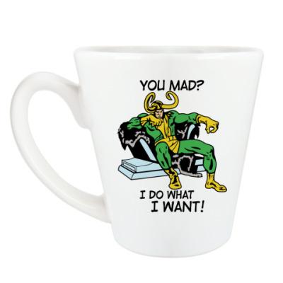 Чашка Латте Мстители Локи