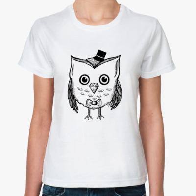 Классическая футболка Сова в шляпе