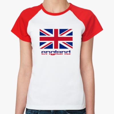 Женская футболка реглан England