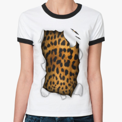 Женская футболка Ringer-T Шкура