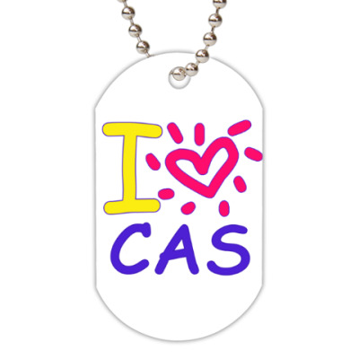Жетон dog-tag Supernatural - I love Cas