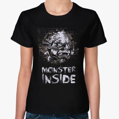 Женская футболка MONSTER INSIDE