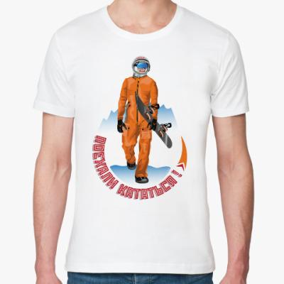 Футболка из органик-хлопка Гагарин сноубордист