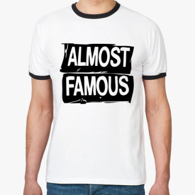 Футболка Ringer-T Надпись ALMOST FAMOUS