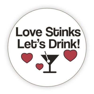 Костер (подставка под кружку) Love Stinks