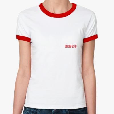 Женская футболка Ringer-T КПСС
