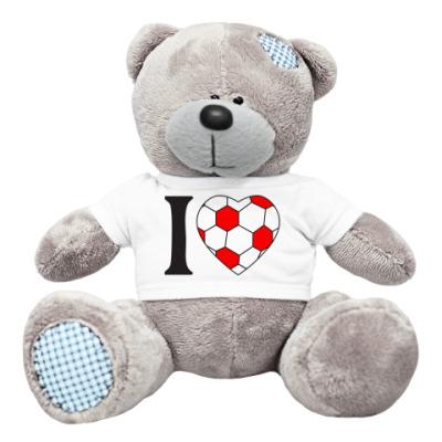Плюшевый мишка Тедди I Love Football