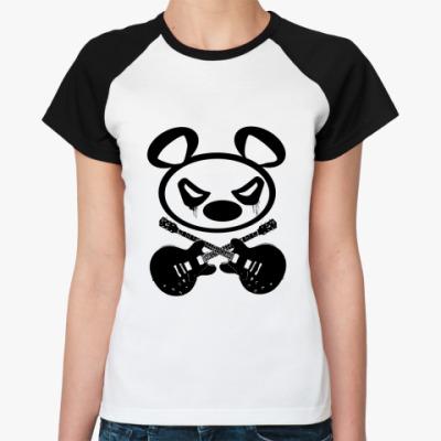 Женская футболка реглан   Panda